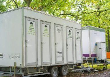 PKDNKT Mobile shower Block, England, UK.